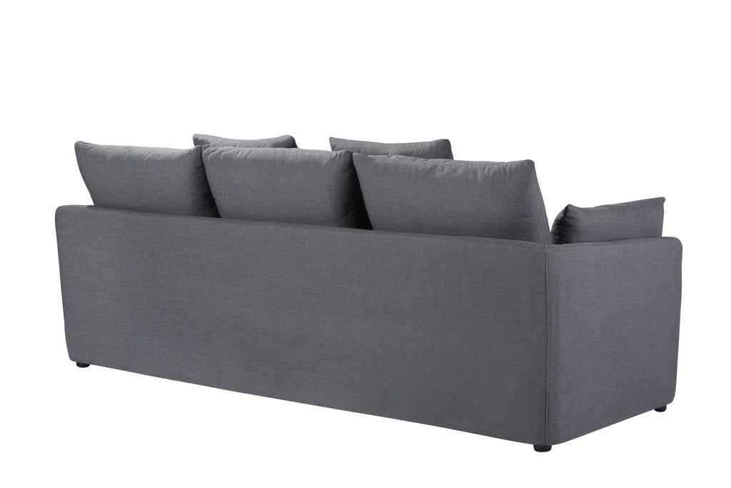 103LNCH,Cameron Sofa in Charcoal Blue Linen