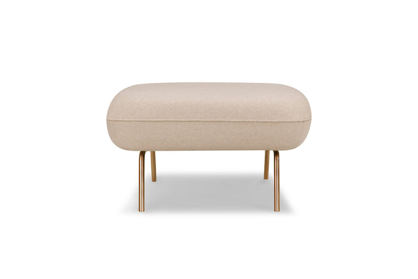 1057FLCRM,Big Arm Ottoman in Cream Felt