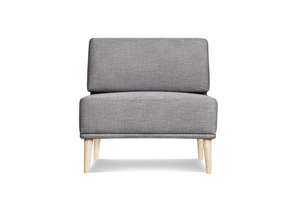 1024FTGRY1,Knook Single Chair In Grey Tweed
