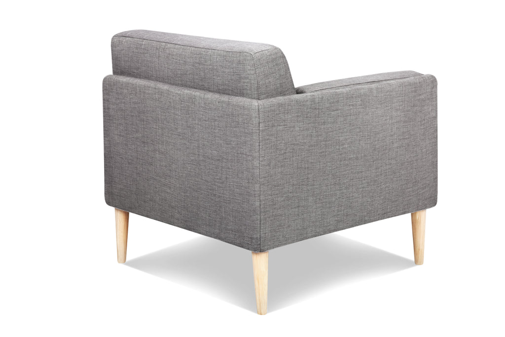 1024FTGRY2,Knook Corner Chair in Grey Tweed