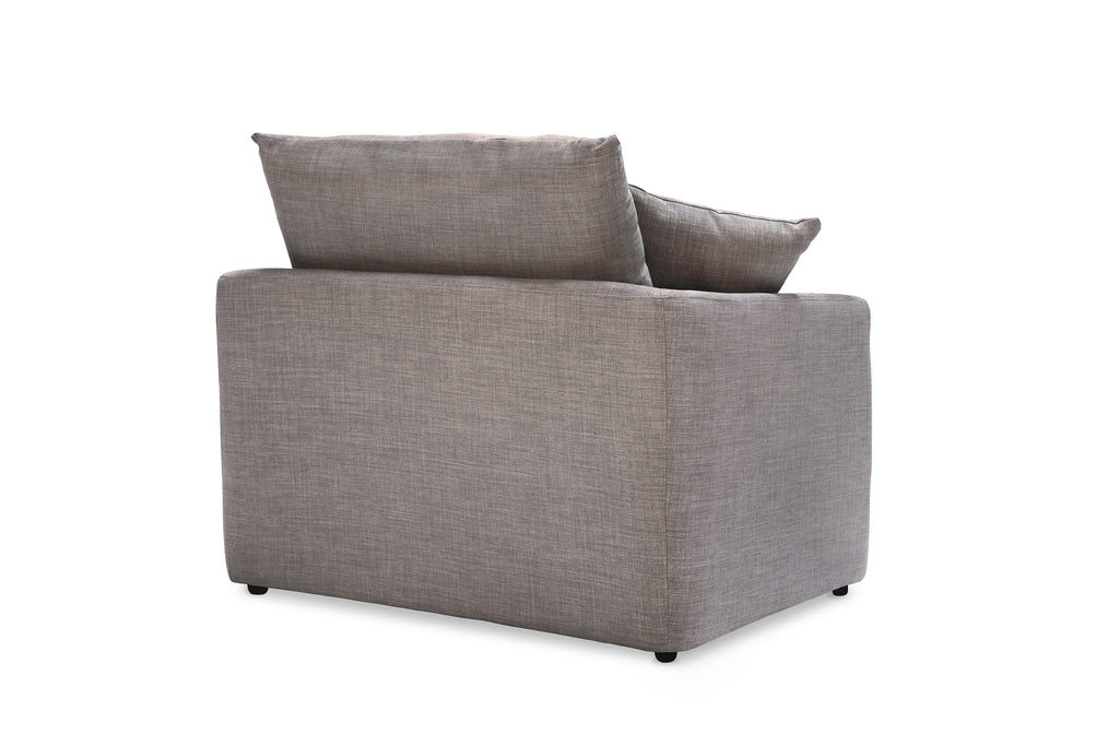 104FTGRY,Cameron Armchair in Grey Tweed