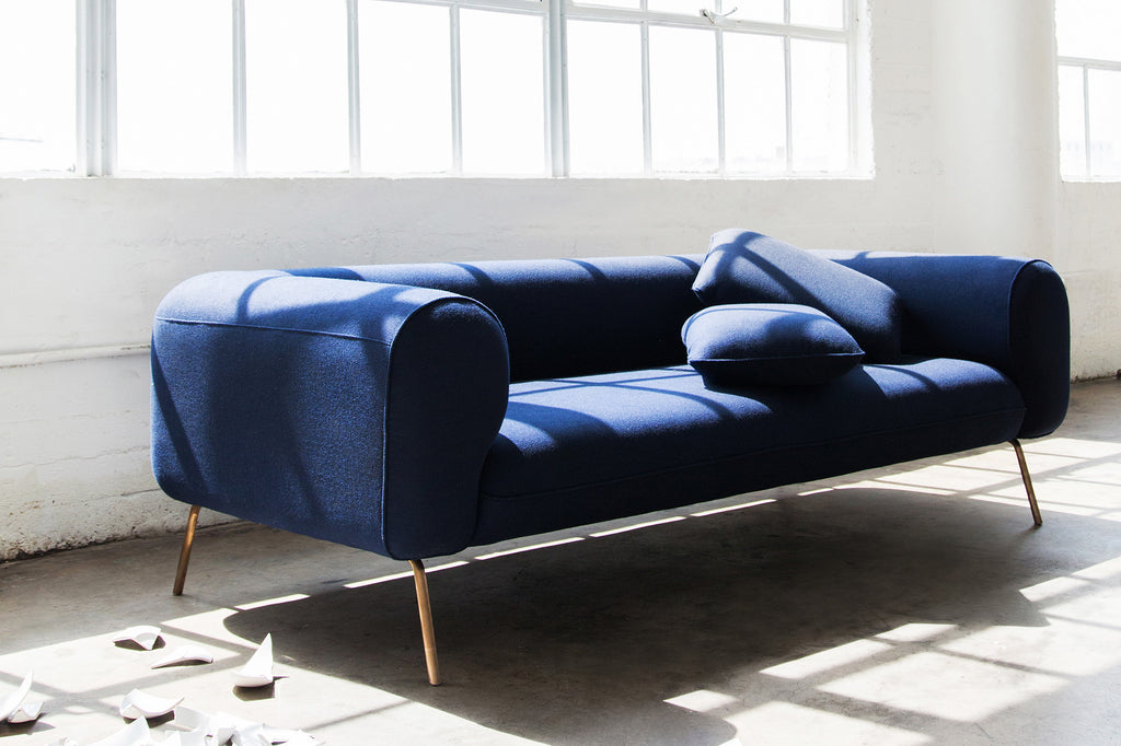 1027INGO,Big Arm Sofa in Indigo Felt