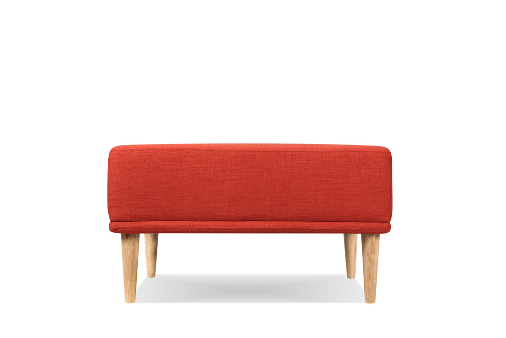 1024EARED3,Knook Ottoman in Earth Red Tweed