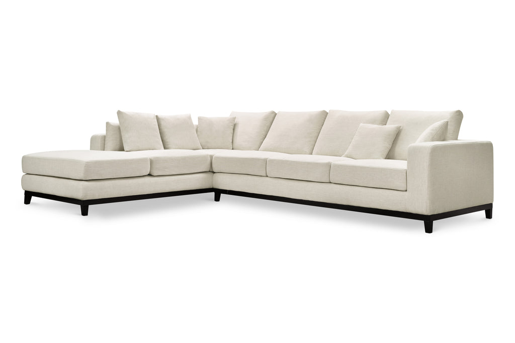 1011LNWHTL,Kellan Sectional Sofa Left Chaise in White Linen