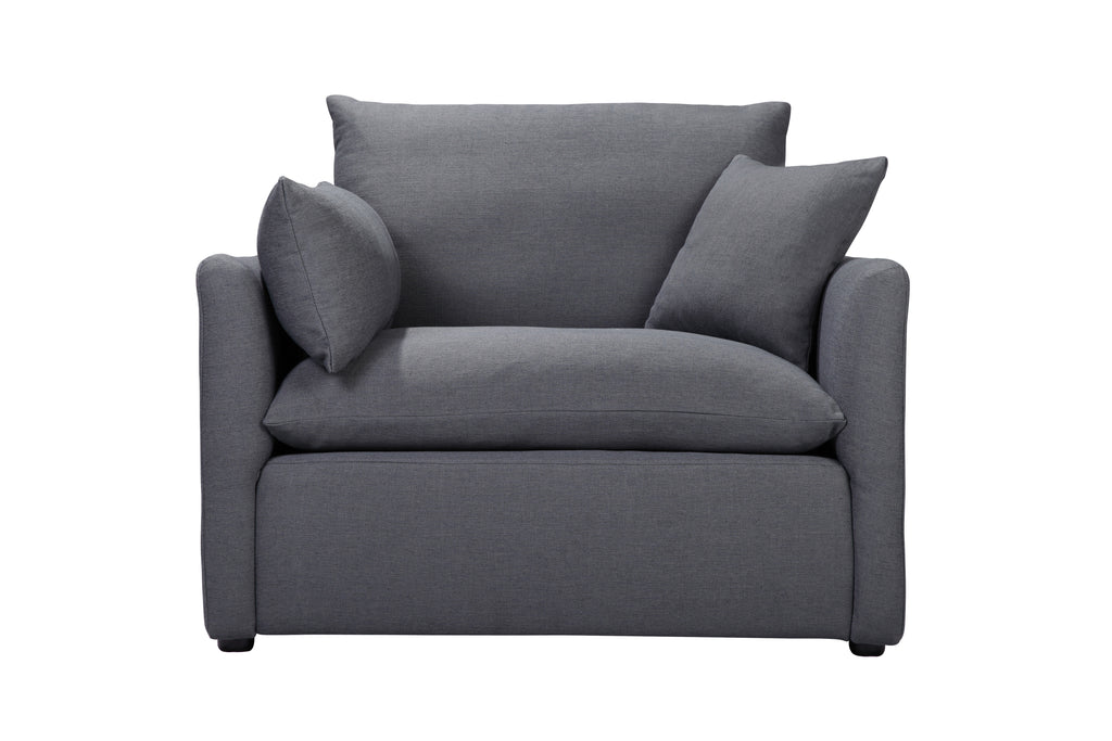 104LNCH,Cameron Armchair In Charcoal Blue Linen