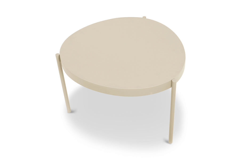 157TPE,Ovoid Coffee Table  Small in Taupe Finish