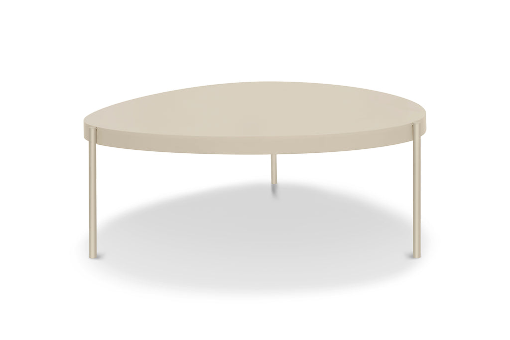 156TPE,Ovoid Coffee Table  Large In Taupe Finish