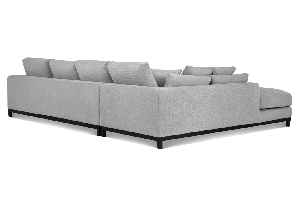 1011FWLGL,Kellan Sectional Sofa Left Chaise in Light Grey Weave