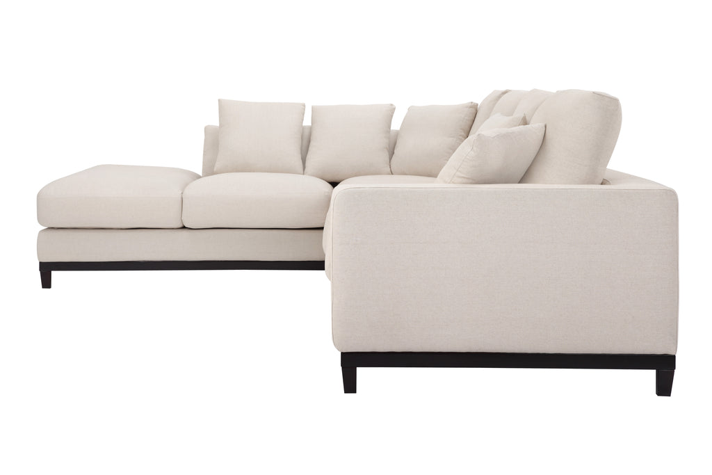 1011LNOATR,Kellan Sectional Sofa Right Chaise in Oatmeal Linen