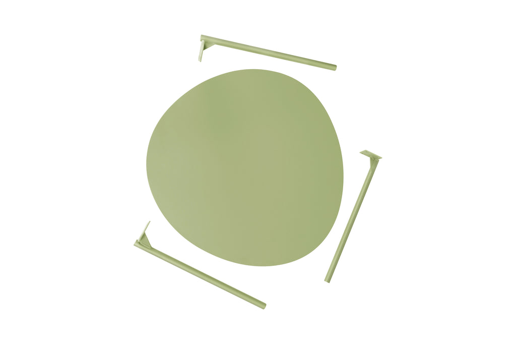 157PGR,Ovoid Coffee Table  Small in Pale Green Finish