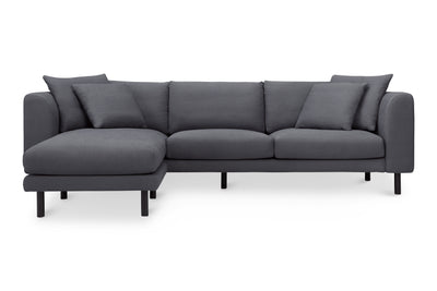 1048LNCH,Verso Sectional Sofa with Left/Right Chaise in Charcoal Blue Linen