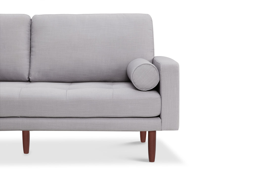 1031LNLG,Capsule Home Brooklyn 78 Mid Century Sofa with USB Ports in Light Grey Linen