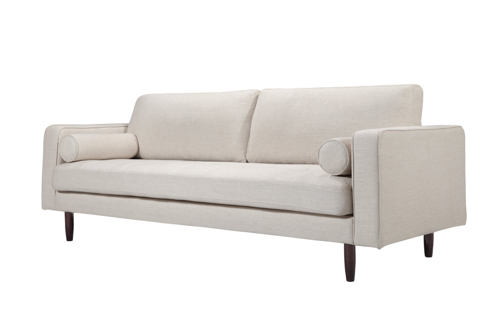 109LNWHT,Freeman Sofa In White Linen