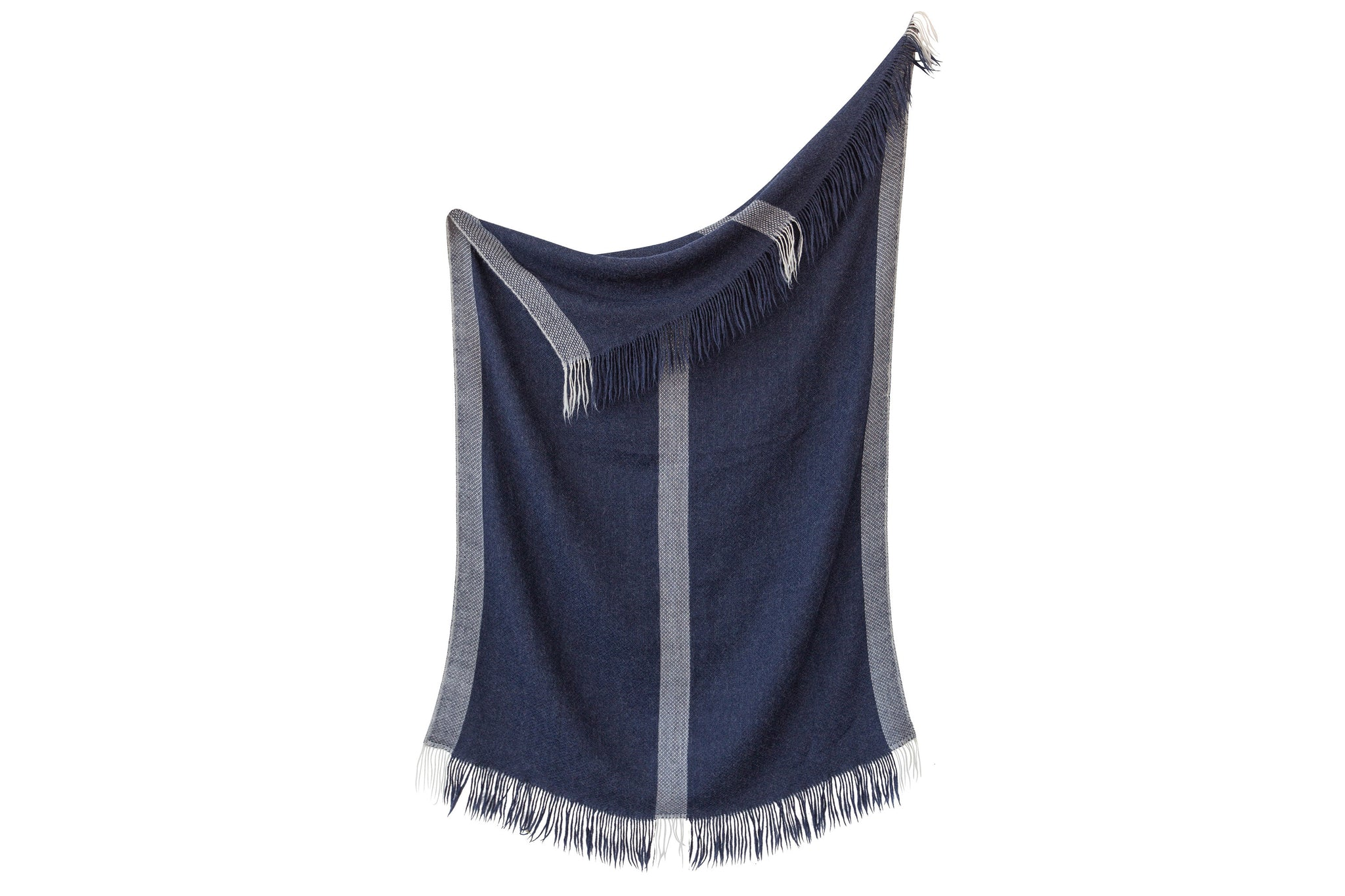 2111NVY,Honeycomb Throw Blanket In Navy