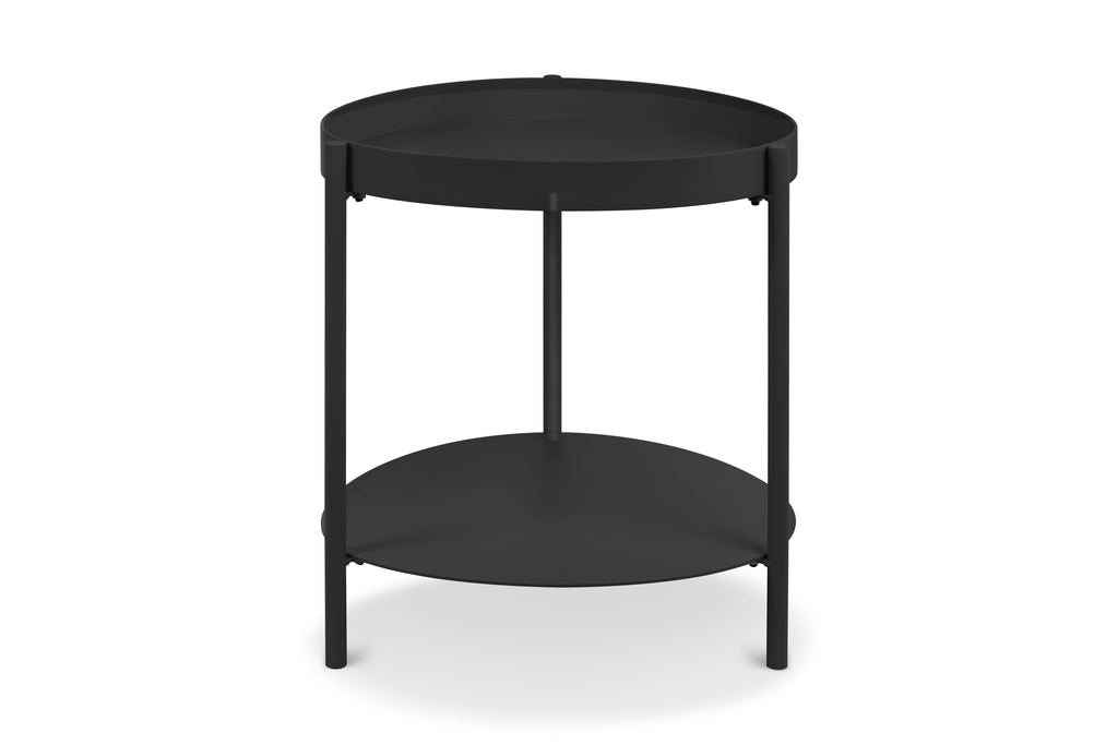 158BLK,Ovoid Side Table In Black Finish