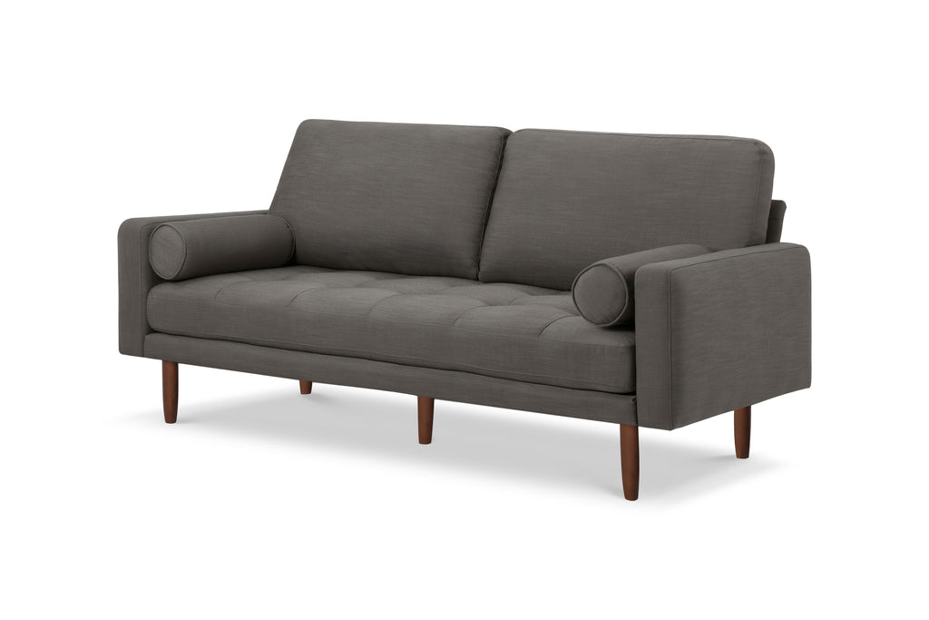 1031DGRY,Capsule Home Brooklyn 78 Mid Century Sofa with USB Ports in Dark Grey Linen