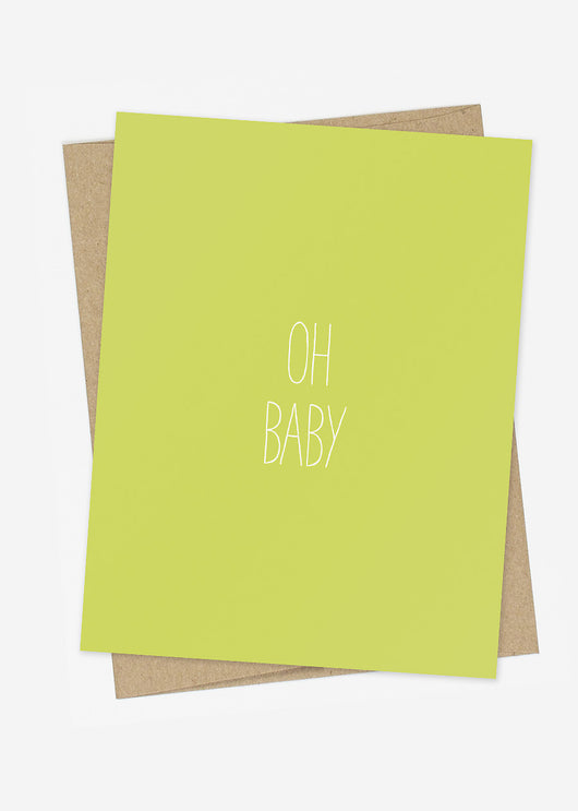 Oh Baby hand lettered card