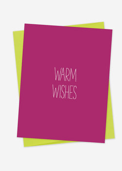 Warm Wishes Magenta Holiday or Everyday Card