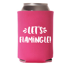 Let's Flamingle! Insulated Can Cooler
