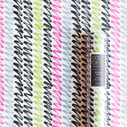 Pink, Black, and Green Bold Brushstroke Wrapping Paper v3