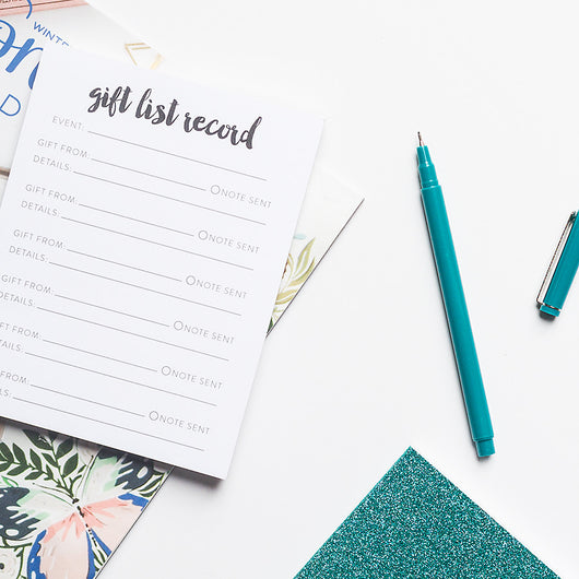 Gift List Record Notepad | Thank You Note Record | 50 Sheets