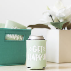 Get Happy! Insulated Can Cooler