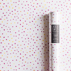 Brush Dots in Magenta Sunset Wrapping Paper