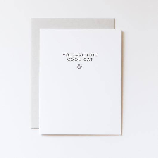 You Are One Cool Cat Note Card