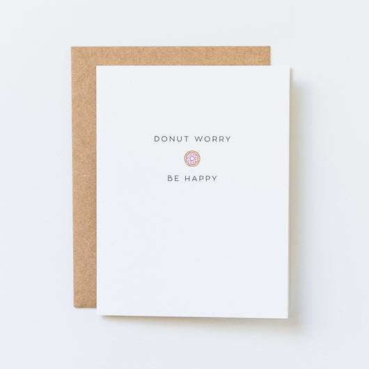 Donut Worry, Be Happy Icon Card