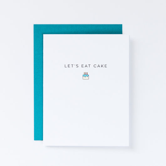Let's Eat Cake Mini Cake Icon Card
