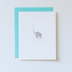 elephant felicitations in seafoam