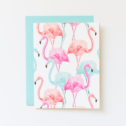 Flamingo Brights Blank Notecard