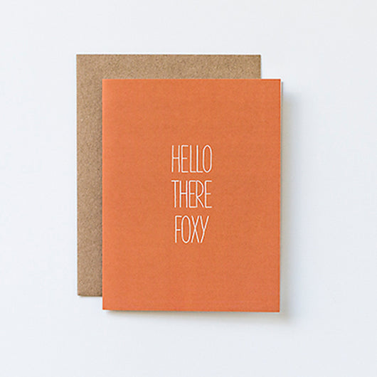 Hello There Foxy Hand Lettered Card