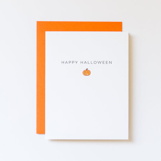 Happy Halloween Jack-O-Lantern Icon Card