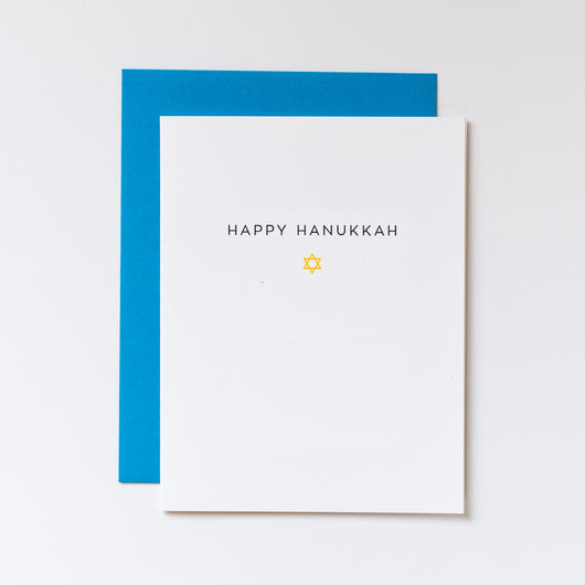 Happy Hanukkah Star of David Icon Card