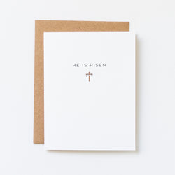 He Is Risen Cross Icon Easter Card