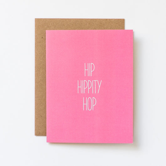Hip Hippity Hop Hand Lettered Easter Card