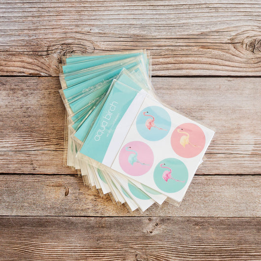 Flamingo Bright Sticker Set