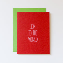 Joy to the World Hand Lettered Christmas Card