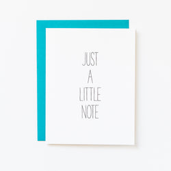 Just a Little Note Hand Lettered Card