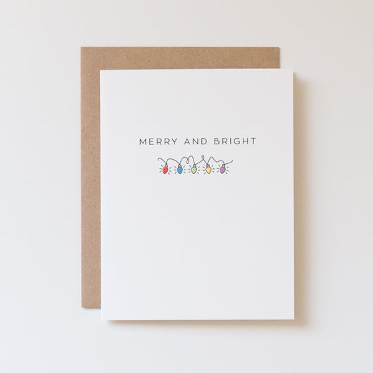 Merry and Bright Vintage c9 Lights Icon Card