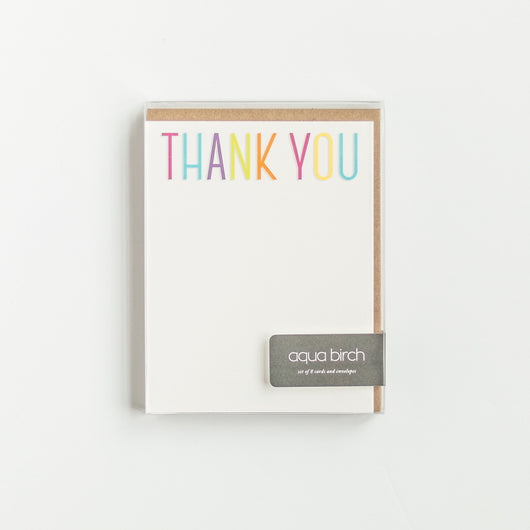 Thank You Flat Note Card Set