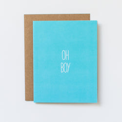oh boy hand lettered congratulations card