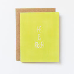 He Is Risen Hand Lettered Easter Card