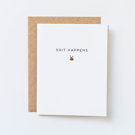 Shit Happens Icon Greeting Card