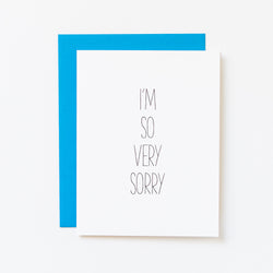 I'm So Very Sorry Hand Lettered Card