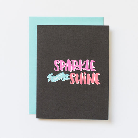 Sparkle and Shine Blank Note Card