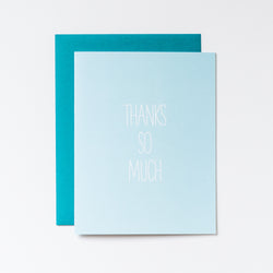 Thanks So Much Seafoam Hand Lettered Card