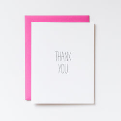 Simple Thank You Hand Lettered on White