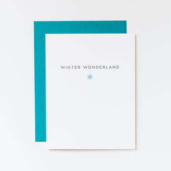 Winter Wonderland Snowflake Icon Card